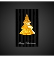 a Xmas postcard with golden foil Christma vector image