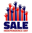 Fourth july American Independence Day Sale vector image vector image
