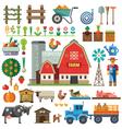 Farm in village vector image