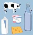 Milk icons vector image