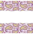 seamless paisley pattern with torn paper vector image