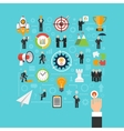 Business start concept in flat style vector image vector image