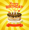 Sweet chocolate cake with candles vector image