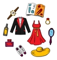 Male and female fashion icons vector image vector image