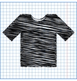 T-shirt icon with pen effect on paper vector image