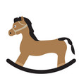 isolated wooden horse vector image