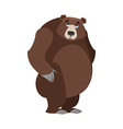 Sad bear mournful Grizzly tragic wild animal Large vector image
