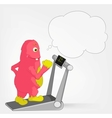 Funny Monster Gym vector image vector image