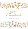 Gold flower seamless pattern for Christmas season vector image