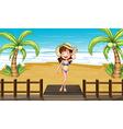 Cartoon Beach Girl vector image