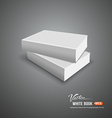 Cover white book empty template vector image