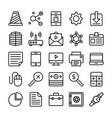 business and office line icons 3 vector image