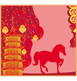 Year of Horse - Chinese New Year 2014 vector image