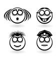 cartoon of emotions vector image vector image