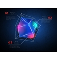 background with low poly polygonal glowing vector image vector image