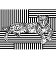 Trendy summer pattern with leopard Geometric vector image