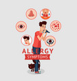 allergy symptoms concept vector image