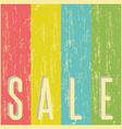 Sale poster background old shabby paper vintage vector image
