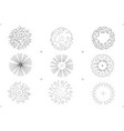 set of drawing trees on white background vector image