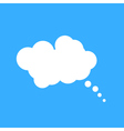 Cloud speech bubble vector image