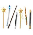 magic wand realistic set vector image