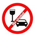 No alcohol icon vector image