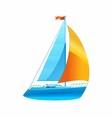 Sailboat Sailing Icon vector image