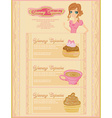 menu bakery and coffee shop vector image
