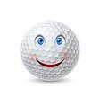 Golf ball cartoon character vector image vector image