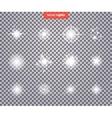 Set Glows Bright Star Light Fireworks vector image