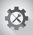 Object tool icon design Wrench with Screwdriver on vector image vector image