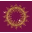 Round lace mandala vector image