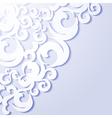 Applique paper vintage background vector image