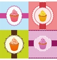 cupcake invitation cards vector image