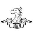 dragon head fantastic dragon lizard vector image