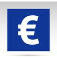 Euro blue rectangle vector image