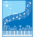 music inside flat vector image