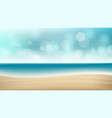 summer beach background blur sea coast vector image