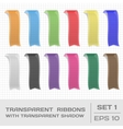 Transparent Ribbons Set 1 Tags Bookmarks vector image