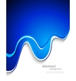 wavy background in blue color vector image