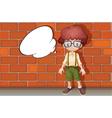 A boy and a speech bubble vector image vector image