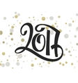 hand lettering new 2017 year numbers with vector image