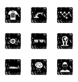 Computer latest devices icons set grunge style vector image