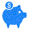 piggy bank icon grunge watermark vector image
