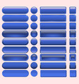 buttons blue many for website design vector image