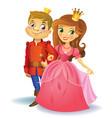 Beautiful princess and prince vector image
