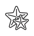 icon of star fishes great for mobile and vector image