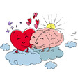 Heart and brain vector image