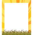 An empty paper template with plants at the bottom vector image