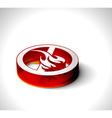 3d fire web icon vector image